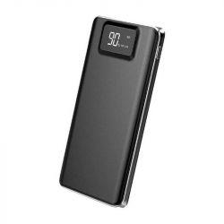 Baterie externa HAME P45 10000mAh, 2x USB, 2.1A, Afisaj LCD, Negru
