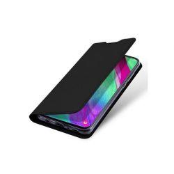 Husa flip wallet OEM pentru Samsung Galaxy A40, negru