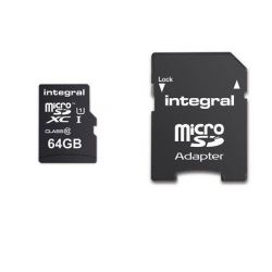 Card de memorie microSDXC INTEGRAL Ultima Pro 64 GB, UHS-I U1, CL10 + Adaptor SD