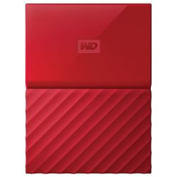 "Hard disk extern WD My Passport 2 TB, 2.5"", USB 3.0, rosu"