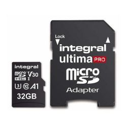 Card de memorie microSDHC INTEGRAL Ultima Pro 32 GB, CL10 + Adaptor SD