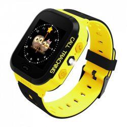 Smartwatch ART Go LOK-2000Y, GPS, 2G, galben/negru