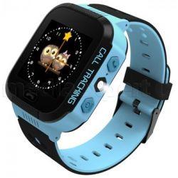 Smartwatch ART Go LOK-2000B, GPS, 2G, albastru/negru