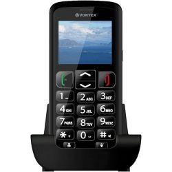 "Telefon VORTEX Senior 2"" 220x176 pixels, 2G, 3G, Dual SIM, Single core, 256 MB RAM, stocare 0.1 GB, Negru, cameră spate 0.3 MP,"