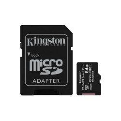 Card de memorie microSDXC KINGSTON Canvas Select Plus SDCS2/64GB, 64GB, Clasa 10 + Adaptor SD