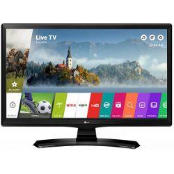 """Televizor/Monitor LED Smart LG 24MT49S-PZ 22"""" (56 cm), Smart TV, Plat, 1366p, WebOS, Negru"""