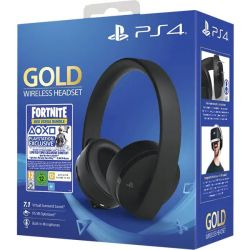 Casti gaming wireless SONY PlayStation Gold, 7.1 surround, multiplatforma, USB, 3.5 mm + Fortnite Neo Versa Bundle