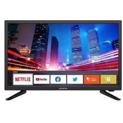 "Televizor LED Smart VORTEX V24E19DS 24"" (61 cm), Smart TV, Plat, 1366p, Linux, Negru"