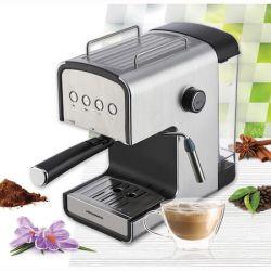 Espressor semi-automat HEINNER HEM-B2012SA, 20 bar, 850W, optiuni presetate pentru espresso lung/scurt, filtru din inox, plita pentru mentinere cafea calda, inox
