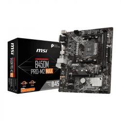 Placa video MSI B450 (SAM4, 2xDDR4, 1xPCI-Ex16, 2xPCI-Ex1, USB3.2, USB2.0, 4xSATA III, M.2, Raid, VGA, DVI-D, HDMI, GLAN) mATX Retail
